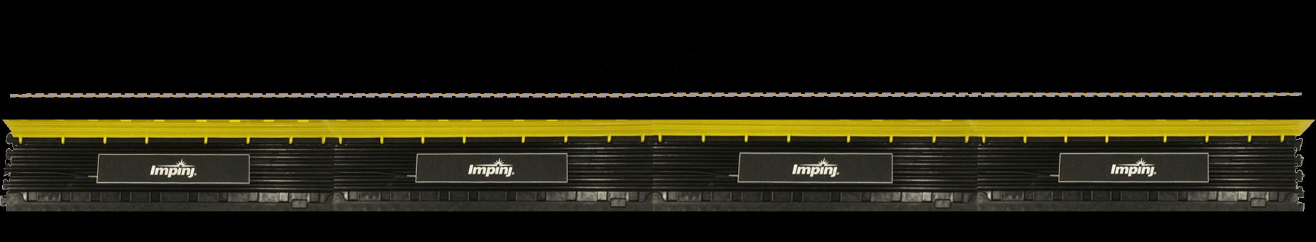 Ancho de 4 antenas Impinj con protecciones